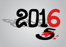 2016 year symbol. Creative design of 2016 new year symbol Royalty Free Stock Photos