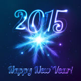 Year 2015 symbol with shining cosmic snowflake. Year 2015 vector symbol with shining cosmic snowflake Royalty Free Stock Photo