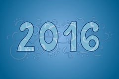 2016 year text blue pattern illustration. Vector Stock Photos