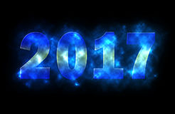 2017 year. Text with glowing effect Stock Image
