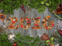 2016 year text Royalty Free Stock Photography