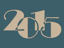 Year 2015 text with striped background. Year 2015 text with striped light background Stock Illustration
