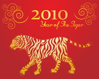 Year of the tiger. Vector image of tiger for chinese new year Stock Images
