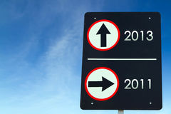 Year on traffic sign Royalty Free Stock Images