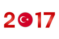 Year 2017 with Turkey Flag Royalty Free Stock Image
