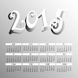 Year 2015 Two Tone Color Calendar Vector. The Year 2015 Two Tone Color Calendar Vector Royalty Free Stock Images