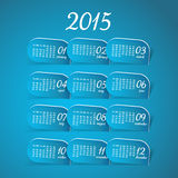 2015 year vector blue calendar. For business wall calendar Royalty Free Stock Photos