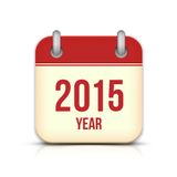 2015 Year Vector Calendar App Icon With Reflection Stock Image