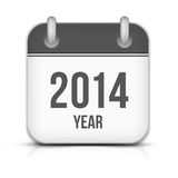 2014 Year Vector Calendar App Icon With Shadow. This is file of EPS10 format Stock Photo