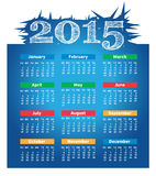 2015 year vector calendar. For business wall calendar vector illustration