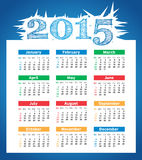 2015 year vector calendar. For business wall calendar stock illustration