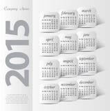 2015 year vector calendar Stock Photos