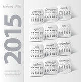 2015 year vector calendar. For business wall calendar royalty free illustration