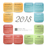 2015 year vector calendar Royalty Free Stock Photography