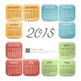 2015 year vector calendar Royalty Free Stock Photography