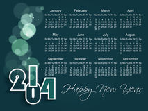2014 year vector calendar (EPS 10) Royalty Free Stock Photos