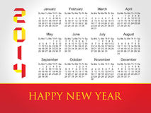 2014 year vector calendar (EPS 10) Stock Images