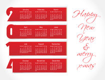 2014 year vector calendar (EPS 10) Royalty Free Stock Photo