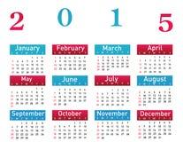 2015 year vector calendar. Illustration stock illustration