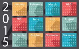 2015 year vector calendar. 2015 year vector illustration calendar royalty free illustration