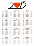 2015 year vector calendar. On the white background for your design Stock Image