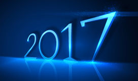 2017 year. Vector illustration design. Royalty Free Stock Photo