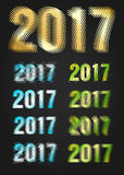 2017 Year vector typography. Different styles collection Royalty Free Stock Images