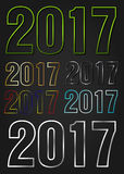 2017 Year vector typography Stock Image