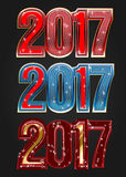 2017 Year vector typography Royalty Free Stock Image