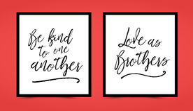 Be kind to one another, Love as brothers printable set