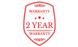 2 year warranty approved icon. 2 year warranty approved red icon warranty Stock Photos