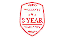 3 year warranty approved icon. 3 year warranty approved red icon warranty Stock Photo
