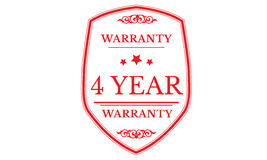 4year warranty approved icon. 4 year warranty approved red icon warranty Stock Photography