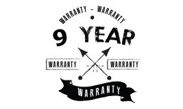 9 year warranty. Black stamp Royalty Free Stock Images