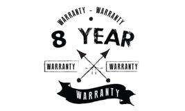 8 year warranty. Black stamp Stock Photos