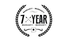 7 year warranty. Black stamp Royalty Free Stock Images