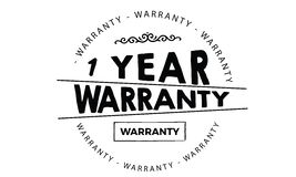 1 year warranty. Black stamp vector Royalty Free Stock Images