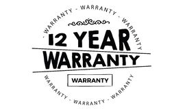 12 year warranty. Black stamp vector Stock Photo