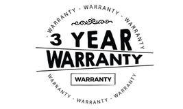 3 year warranty. Black stamp vector Stock Photo