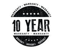 10 year warranty classic retro design icon. Illustration royalty free illustration