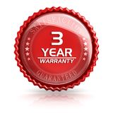 3 Year Warranty. 3d rendered image Stock Photo