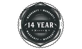 14 year warranty design,best black stamp. 14 year warranty design stamp badge icon vector illustration