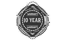 10 year warranty design,best black stamp. 10 year warranty design stamp badge icon vector illustration