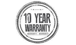 10 year warranty design,best black stamp. Illustration royalty free illustration