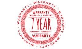 7 year warranty design,best black stamp. Illustration vector illustration