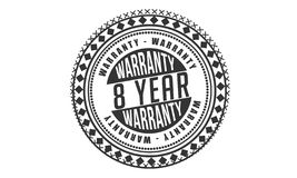 8 year warranty design classic,best black stamp. 8 year warranty design,best black stamp illustration royalty free illustration