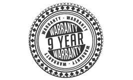 9 year warranty design classic,best black stamp. 9 year warranty design,best black stamp illustration royalty free illustration