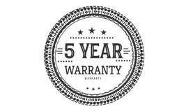 5 year warranty design classic,best black stamp. 5 year warranty design,best black stamp illustration royalty free illustration