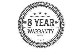 8 year warranty design classic,best black stamp. 8 year warranty design,best black stamp illustration vector illustration
