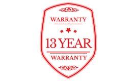 13 year warranty design,best black stamp. Illustration stock illustration